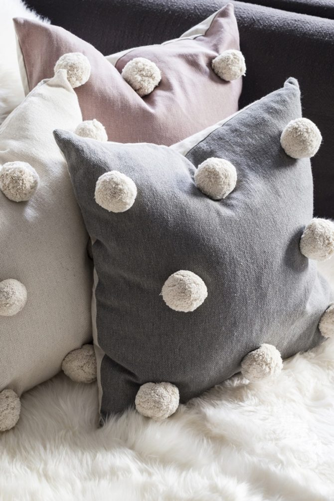 giant pom pom cushion