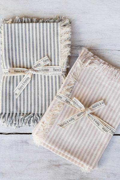 striped table napkin set