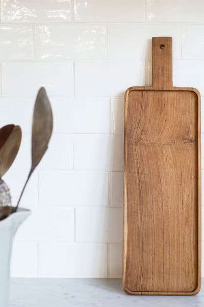 rectanglar teak serving board