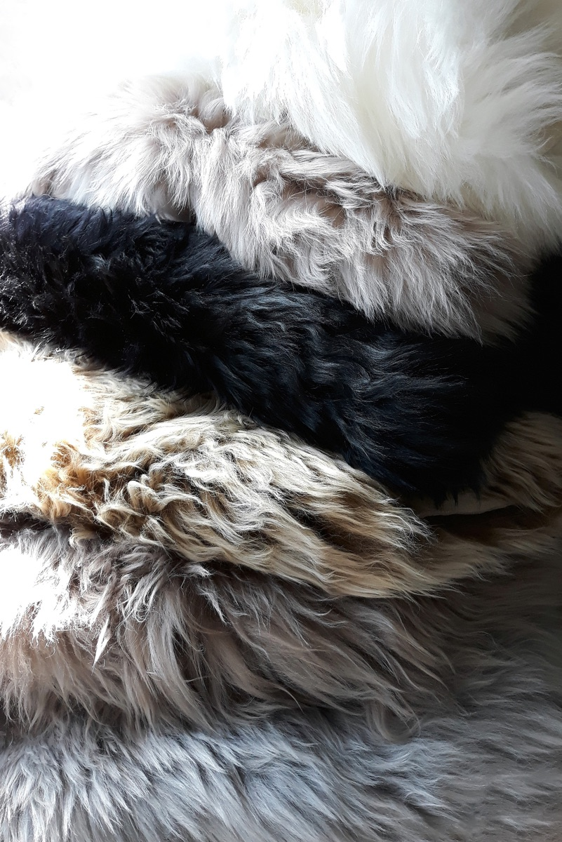 Sheepskin Throw Rug