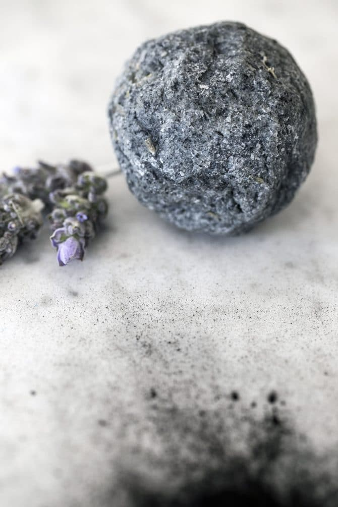 sage lavender charcoal hand made soap