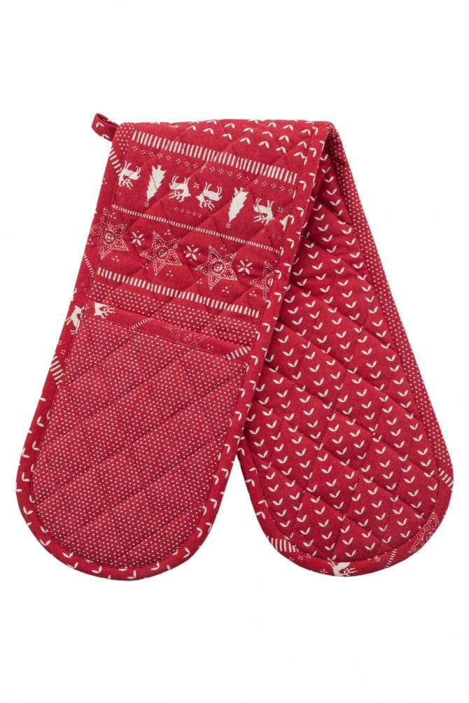Christmas double oven glove