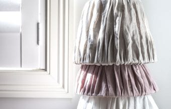 crinkle linen lampshades