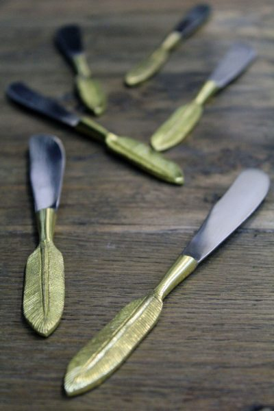 leaf handle butter knife