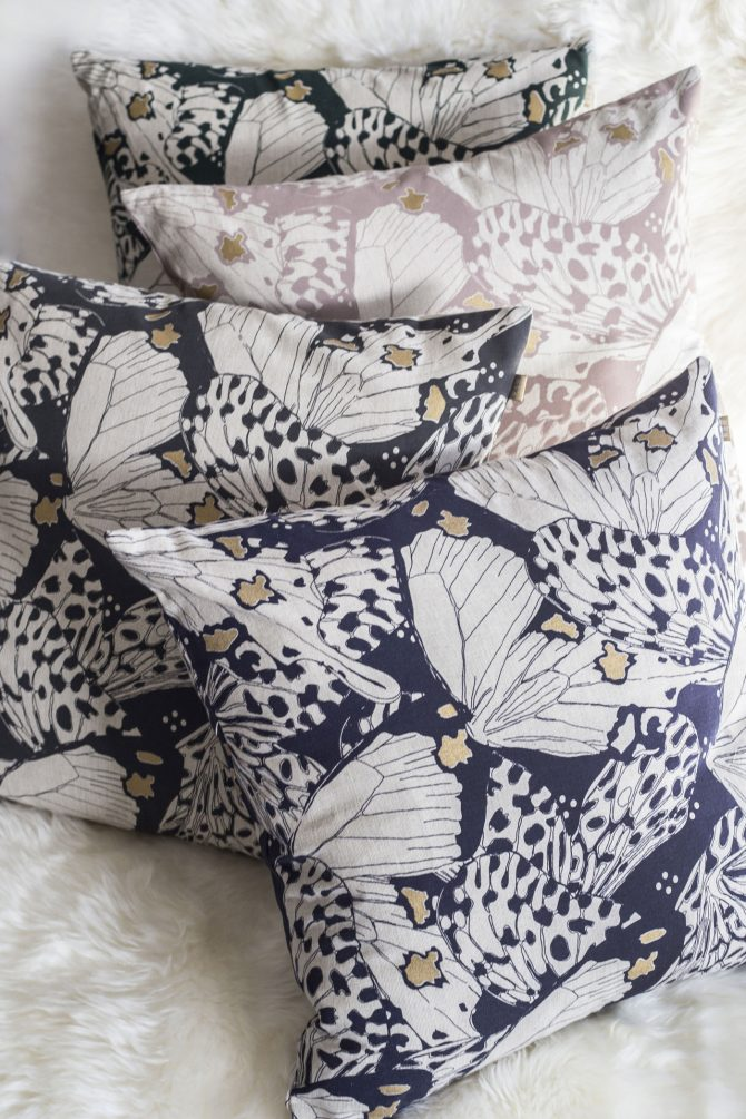 butterfly print cushions