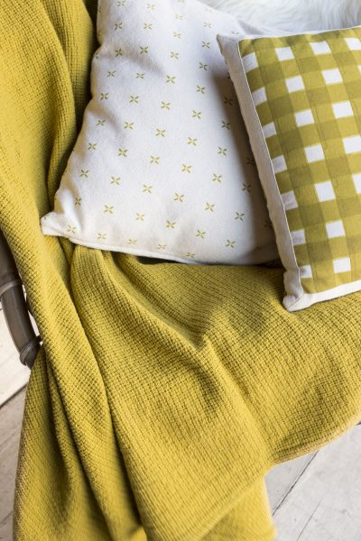 moss green margherita cushion