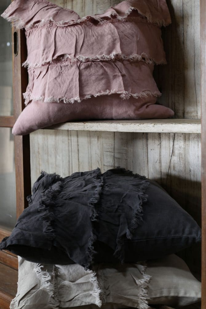 raine humble frilly linen cushions