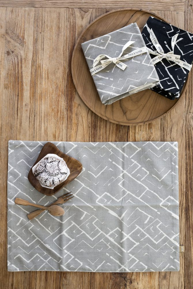 tribal print placemats