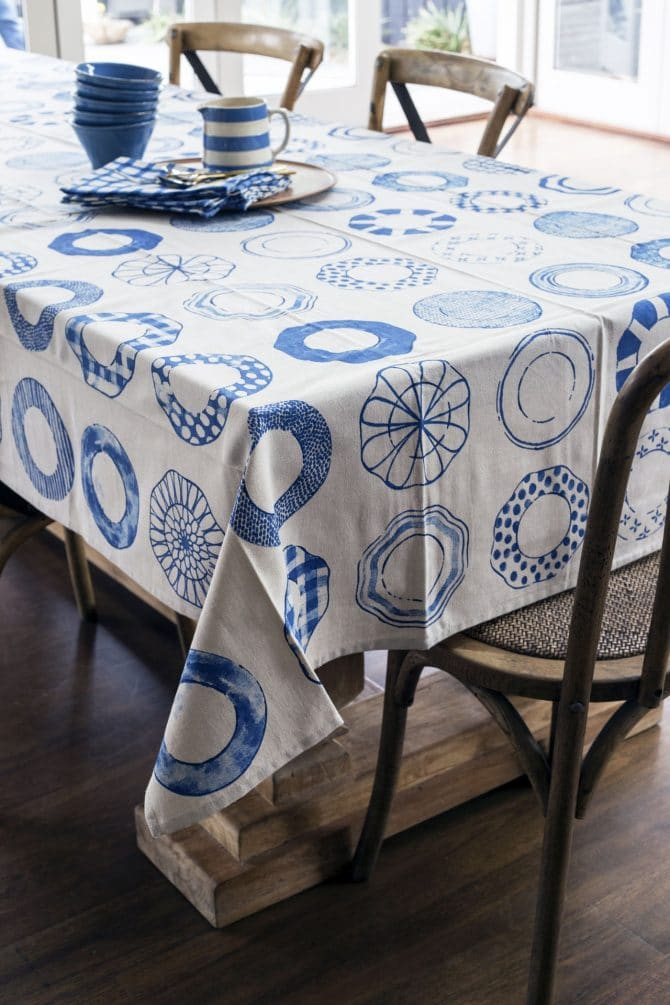 tablecloth china blue
