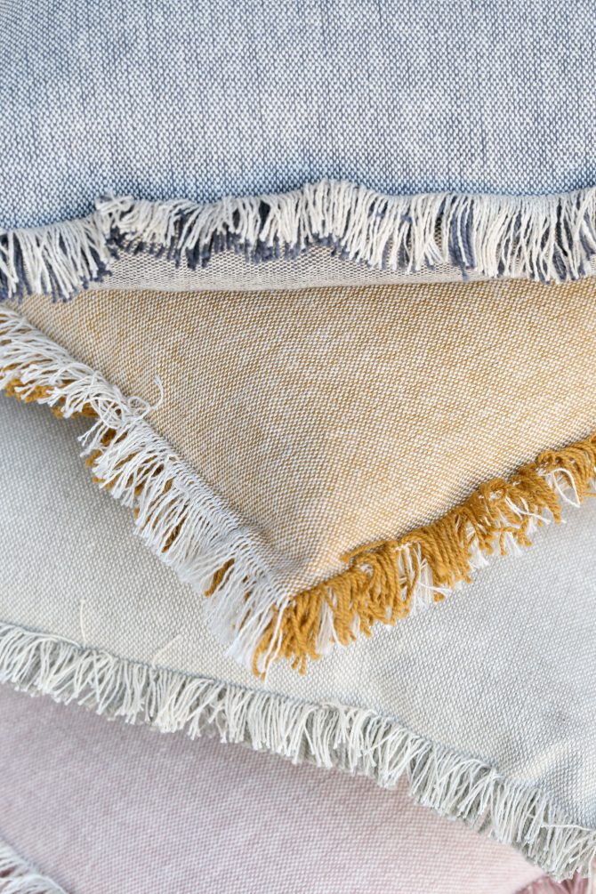 Raine Humble fringed cushion