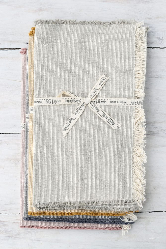 Raine Humble fringed tablerunner