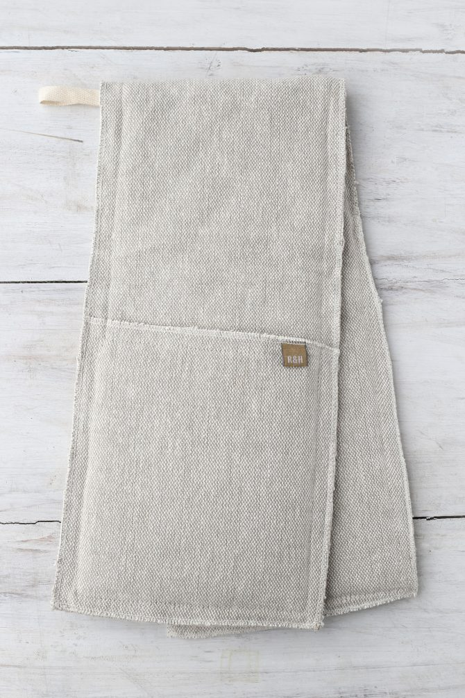 double oven glove taupe