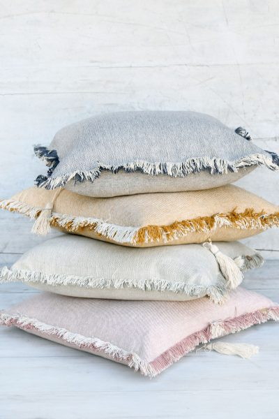 fringed cushion