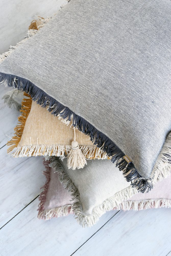 heidi fringed cushion