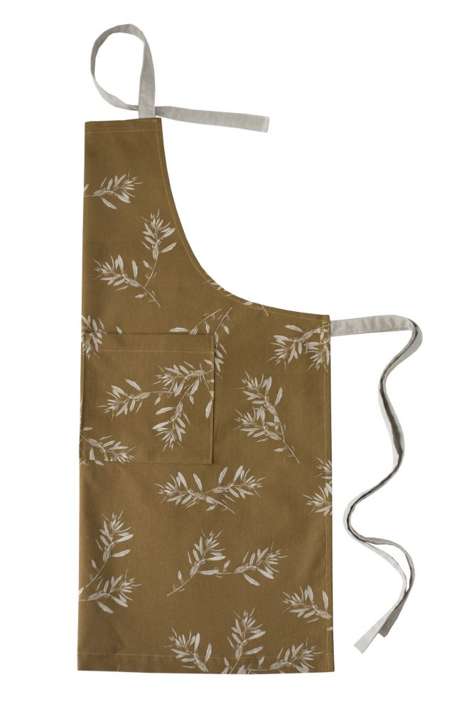mustard olive grove apron