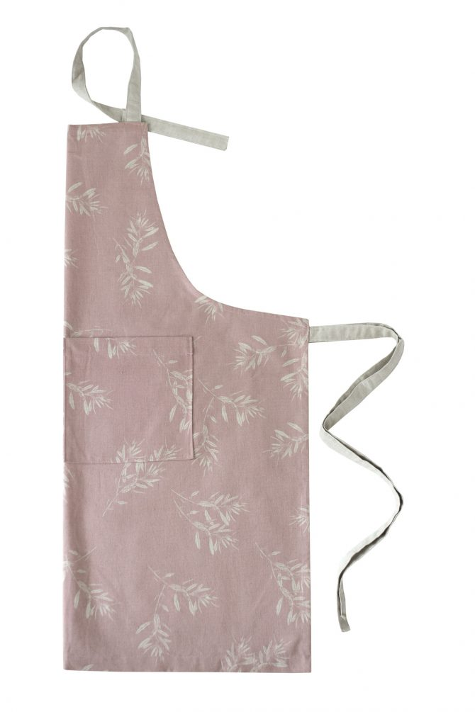pink olive grove apron
